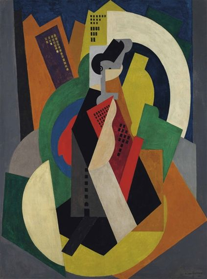 L Art Dans La Ville : ville, L'homme, Ville, (1920), Albert, Gleizes;, Canvas;, (130.6, Cm.);, Signed;, Ac…, Abstract, Painting, Cart,