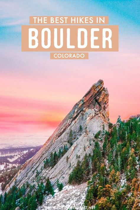 Looking for a perfect outdoor getaway from Denver? If you're looking for beautiful scenery and hiking trails, Boulder is the perfect Colorado weekend destination! On this post, I share the best hikes near Boulder, Colorado that you can't miss! Colorado Hiking, Boulder Colorado, Boulder Hikes, Colorado Springs, Best Hikes, Outdoor Travel, Bouldering, Cool Places To Visit, Travel Usa