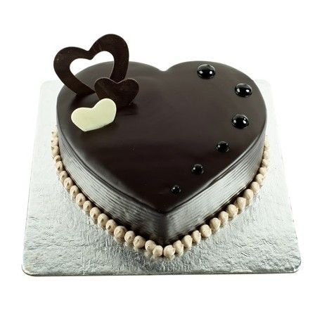 A Heart Shape Chocolate Truffle Cake Can Delight Your Spouse On