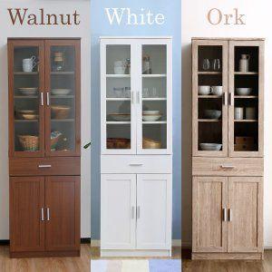 食器棚 おしゃれ 収納 台所 キッチン 幅60以下 カップボード 台所 ハイ