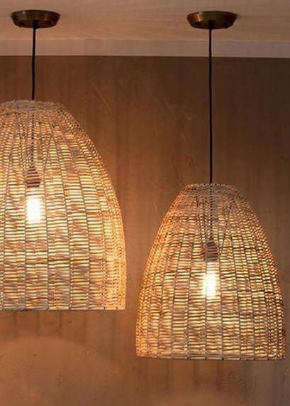 Wicker Indoor Pendant Light Shade