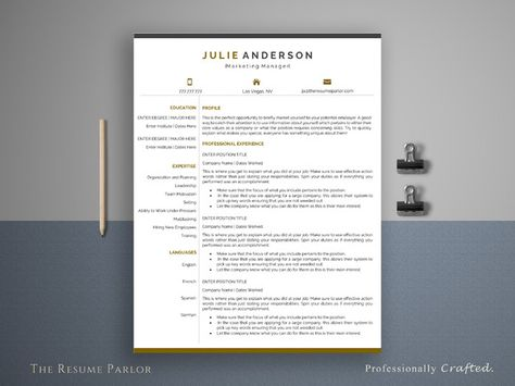 Great Resume Template 4 Page Manager CV @creativework247 - best resume fonts