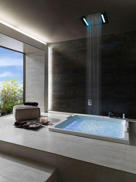 ↣ Hidroterapia en el #baño ↢ Cómo beneficiarse de las propiedades curativas del agua #bañeras #spa #rociadores #interiorismo