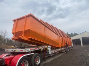 Safety Orange Thirty Yard Dumpsters Lake Charles La Cedar Manufacturing In 2020 Lake Charles La Dumpsters Lake Charles