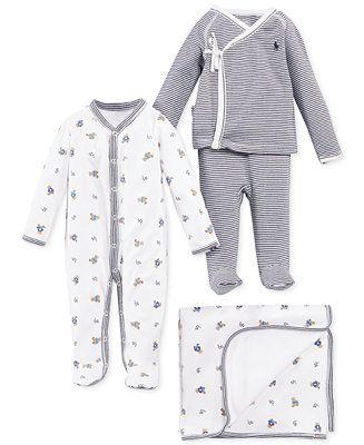 0725884fb Ralph Lauren Baby Boys  Cute   Classic Gift Bundle - Kids   Baby - Macy s
