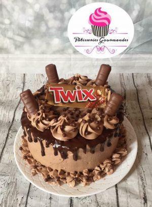 Miraculous Layer Cake Au Twix Twix Cake Cake Recipies Cupcake Cakes Funny Birthday Cards Online Fluifree Goldxyz
