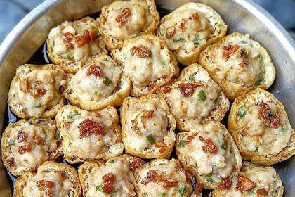 Resep Stim Tahu Goreng Sumbat Chicken Dinner Recipes Vegan Junk Food Food