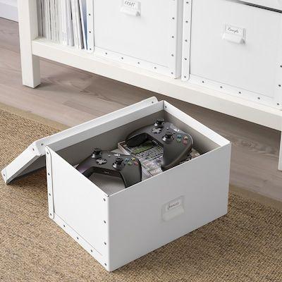 De Conservation Caisse Box 18x26x15cm IKEA fjälla encadré avec couvercle; en blanc;