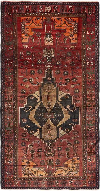 Red Hamedan Area Rug Rugs Persian Rug Bohemian Rug