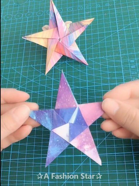10 Fun Paper DIY Ideas – Origami Crafts – DIY For Kids - Star Idea - #crafts #Ideas #origami #Paper