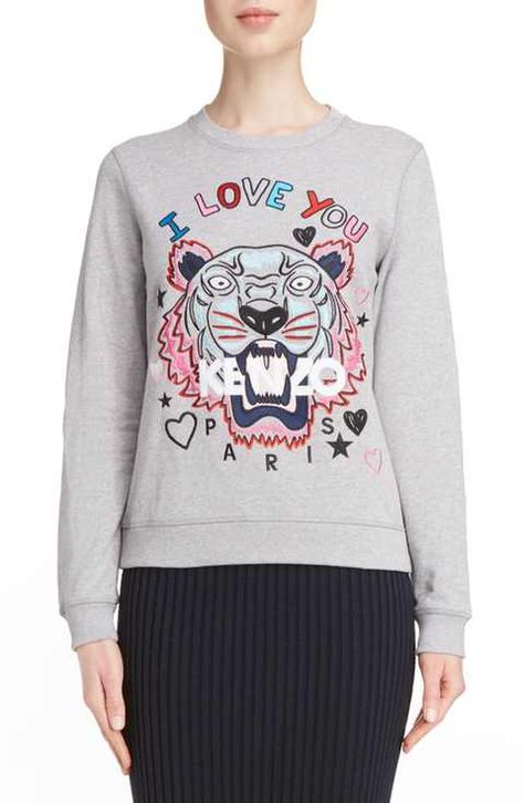d664834f KENZO Tiger I Love You Sweatshirt   Animal Printed Fashions ...