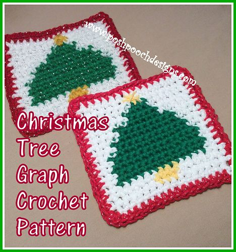Christmas Tree Coaster Graph Crochet Crochet Christmas Trees Christmas