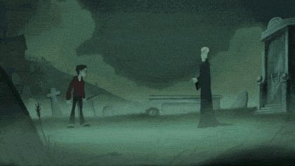 That was an unexpected gif! Harry vs. Voldemort. !!!