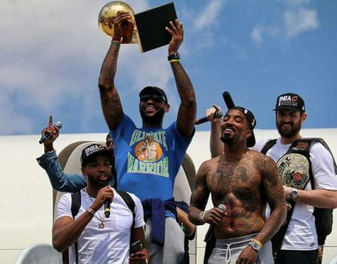 Lebron James, JR Smith and Kevin