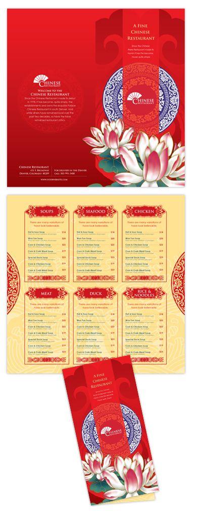 Lotus Chinese Restaurant Menu Template Menu Menu Card Design Restaurant Menu Design Restaurant Menu Template