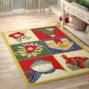 Paget Geometric Hand Hooked Wool Red Green Blue Area Rug Red Area Rug Rugs Area Rugs