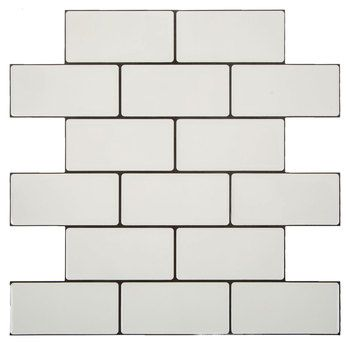 White Brick Self Adhesive Tile Wall Decor With Images White Brick Tiles Adhesive Wall Art Adhesive Tiles