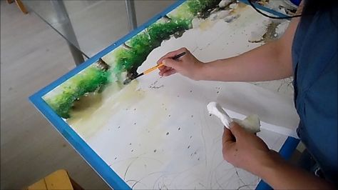 Watercolor Painting Demonstration By Rukiye Garip Videos De