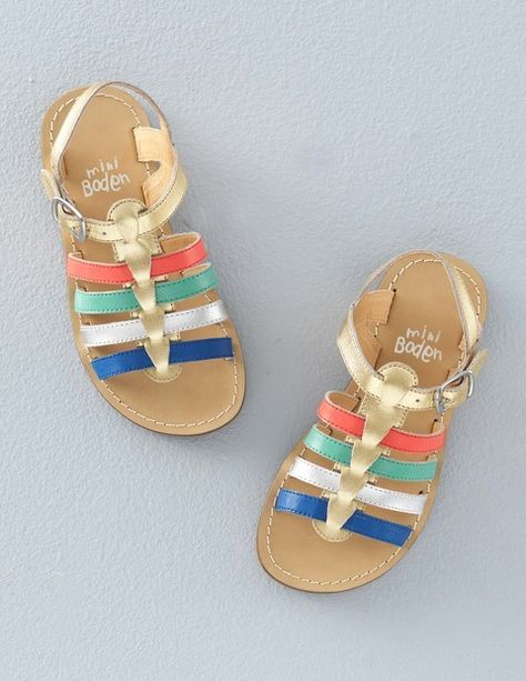 77d07dac141a Mini Boden Leather Gladiator Sandals