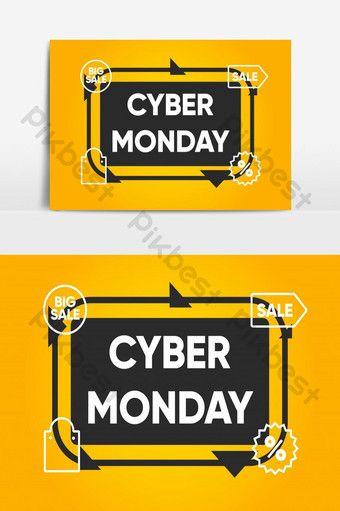 Cyber Monday Sale Banner Design Png Images Ai Free Download Pikbest Cyber Monday Design Sale Banner Banner Design