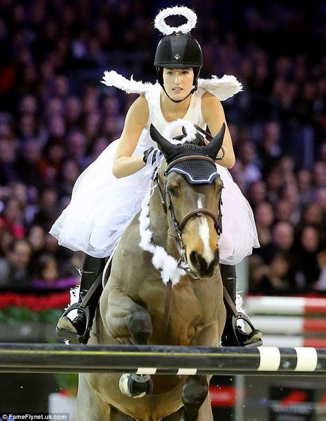 Photo of Born to ride: Angelic Jessica Springsteen is as theatrical as her daddy Bruce at costumed competitio