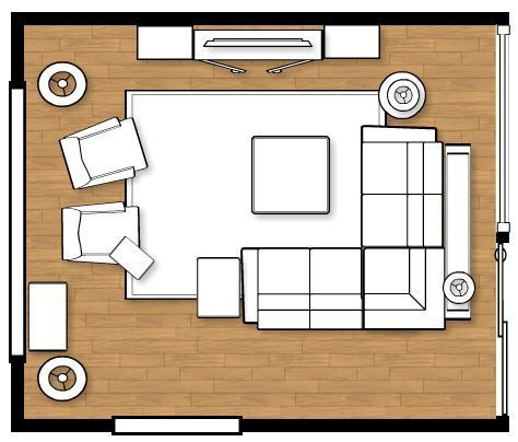 Living Room Layout For My New Home | Coffee, Living rooms and Big