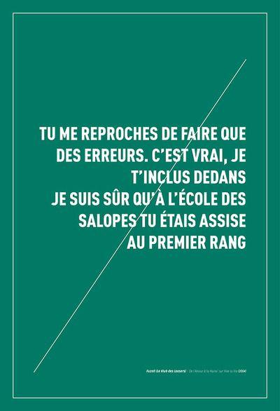 """Fuzati (Le Klub des Loosers) - """"De l'Amour à la Haine"""" sur Vive la Vie (2004). #rap #francais #conscient #fuzati #klub #loosers #leklubdesloosers #affiche #poster #graphisme #design #graphique #punchline #paroles #designgraphique"""