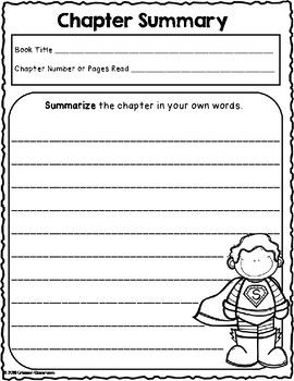 We Are Super Readers Chapter Summary Worksheets And Graphic