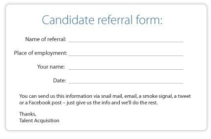 The Best Employee Referral Form Ever taxes Pinterest Blog - referral form