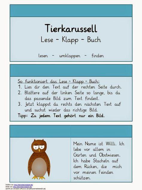 Lese Klappbuch Tiere Leseubungen Bucher Buchstaben Lernen