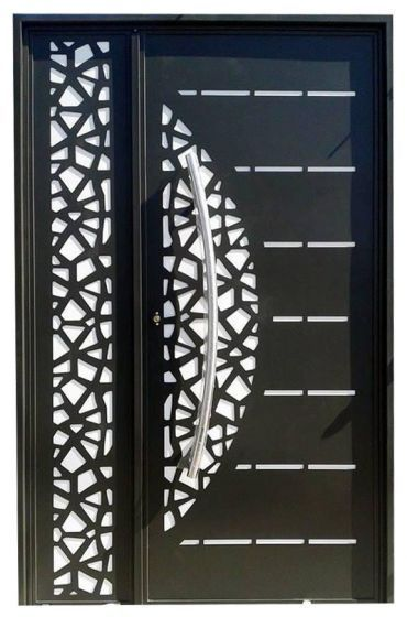 Half Block Stone Design Steel Door Design Metal Doors Design Door Glass Design