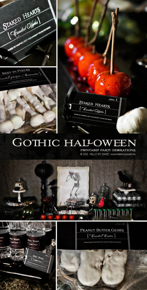 Planning ahead for Halloween? Gothic Halloween Party Printables by HelloMySweet