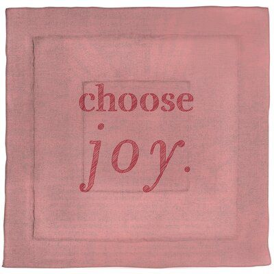 East Urban Home Choose Joy Quote Single Reversible Comforter Size King Comforter Color Red Choose Joy Quotes Joy Quotes Choose Joy