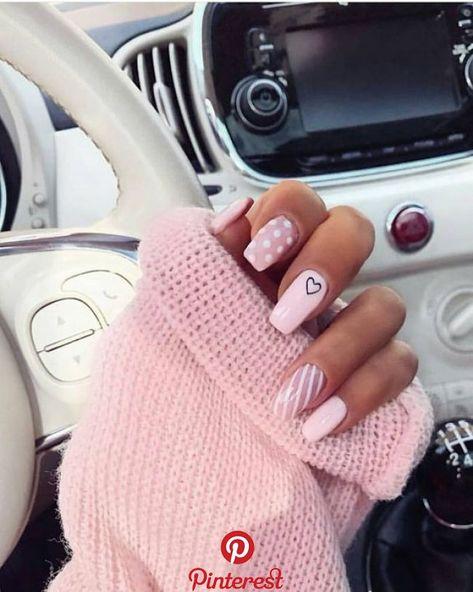 Valentine's Day nail art: pink heart leopard nails, nails acrylic, nails fall, n. - Winter Nail Designs - Best Nail World