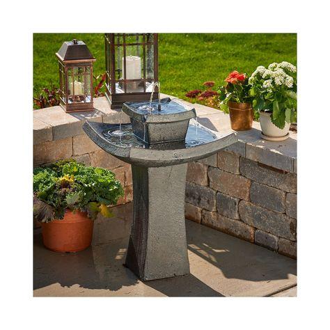 38c2b3a972fe802bbf8ad2c7662a01d2  on demand tier - Smart Solar Gardens 2 Tier Solar On Demand Fountain