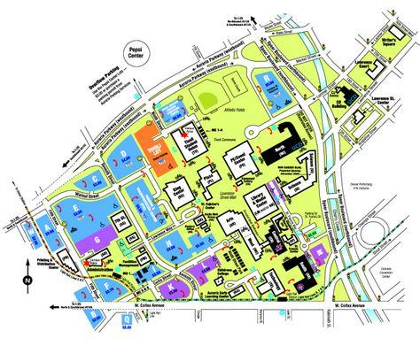 University Of Colorado Denver Campus Map.Pin By Joe F On Denver Historical Maps University Of Colorado Map