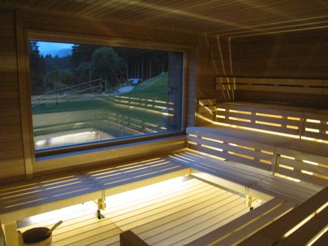 Cute Klafs Forrest Sauna at Lime Wood Hotel heating element in front of window Resonance Bath House Pinterest Saunas Heating element and Window