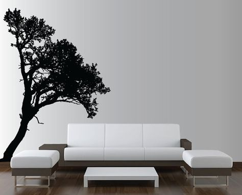 87ace76520f Large Wall Tree Decal Forest Deco Vinyl Sticker Highly Detailed Removable  Nursery 1118 (8 feet tall)