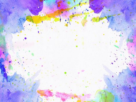 Watercolor Paper Paint Frame Texture Free Poster Background