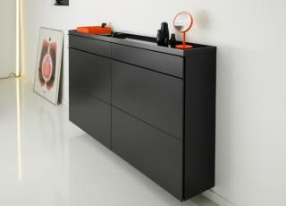 Schoenbuch Basic Large Shoe Cabinet Sideboard In 2020 Shoe Cabinet Shoe Cupboard Shoe Cabinet Design