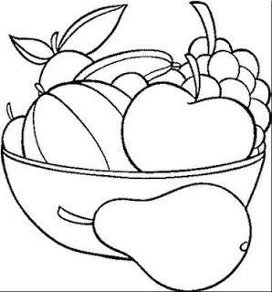 رسم سلة فواكه للاطفال 5