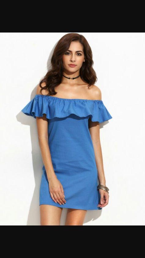 Off Shoulder Denim Dress For Summer Vestido Jean Mezclilla