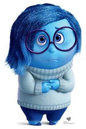 Disney Pixar S Inside Out Sadness Lifesize Standup Cardboard Cutouts Allposters Com In 2021 Blue Cartoon Character Cute Cartoon Pictures Inside Out Characters