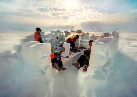 The first night there, we built a camp out of ice-blocks!  - photo from #treyratcliff Trey Ratcliff at http://www.StuckInCustoms.com