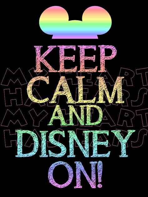 ✯ڿڰۣ-- Printable DIY Keep calm and Disney on Iron on transfer framed art on Etsy, $5.00