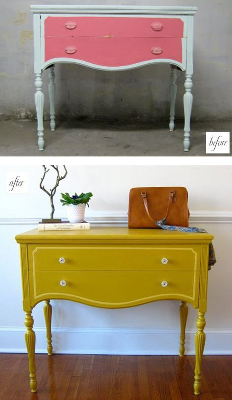 I Think It Would Be Cute To Have Two Matching Dressers Like This Painted For His And Her Dressers Redo Furniture Painted Side Tables Furniture Diy