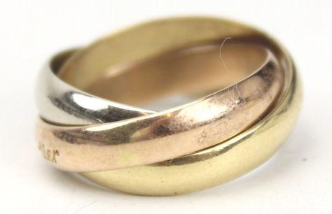 Ladies 18K Gold Cartier Puzzle Ring