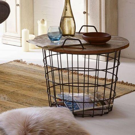 Beistelltisch Treasure Eisen Holz Tisch Holz Und Couchtisch