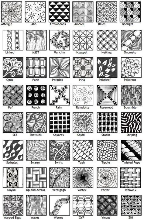 Landscape Drawing Step By Step Zentangle Patterns Ideas Zentangle Patterns For Beginners, Easy Zentangle Patterns, Zen Doodle Patterns, Doodle Art For Beginners, Easy Doodle Art, Doodle Art Designs, Doodle Art Drawing, Zentangle Drawings, Doodles Zentangles