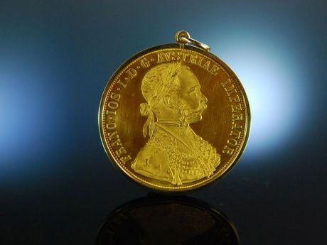 Kaiser Franz Joseph Osterreichischer Gold Munzanhanger Und